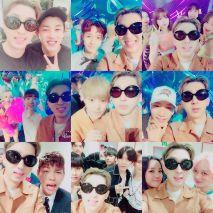 sleepyinsta: It was my last performance so I took pictures with super famous celebritites #KimMinseok #NCTDream #NineMuses #Min #Jokwon #Xiumin #JunK #HanDonggun #Vixx #Spica (160828)