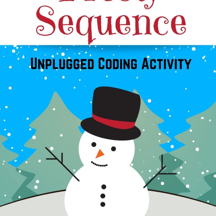 Frosty Sequences Unplugged Coding Worksheet For Kids