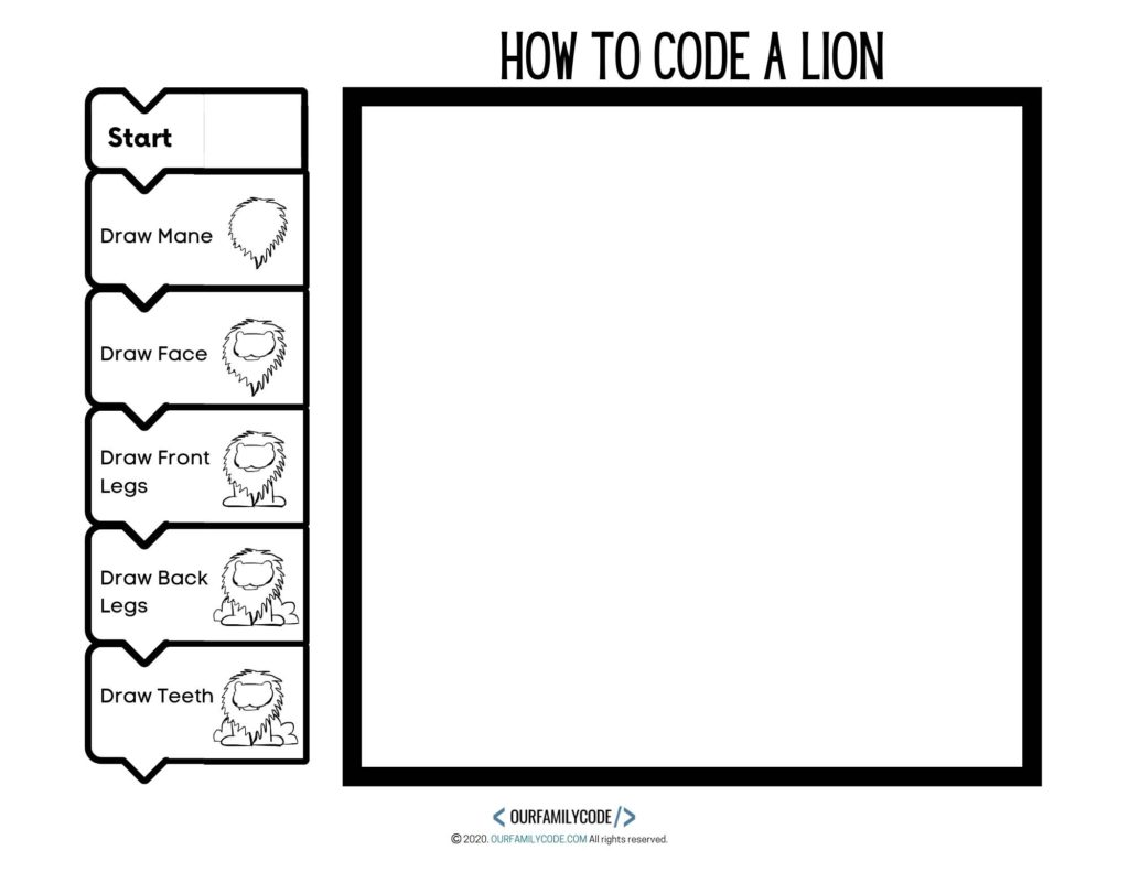 How To Code A Lion Directed Drawing Algorithm Art