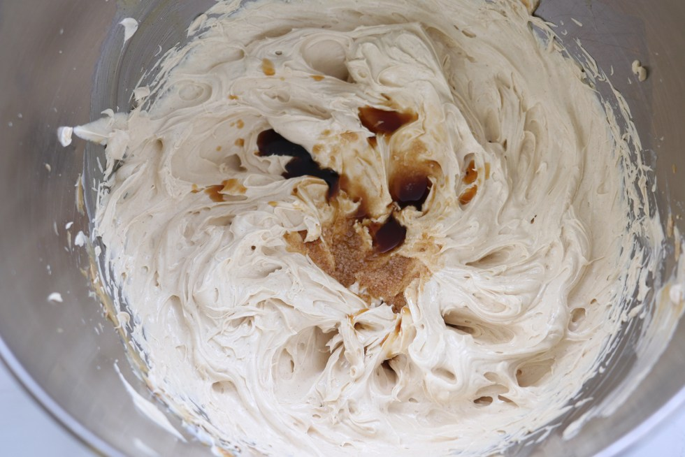 Whipped butter mixture with vanilla extract