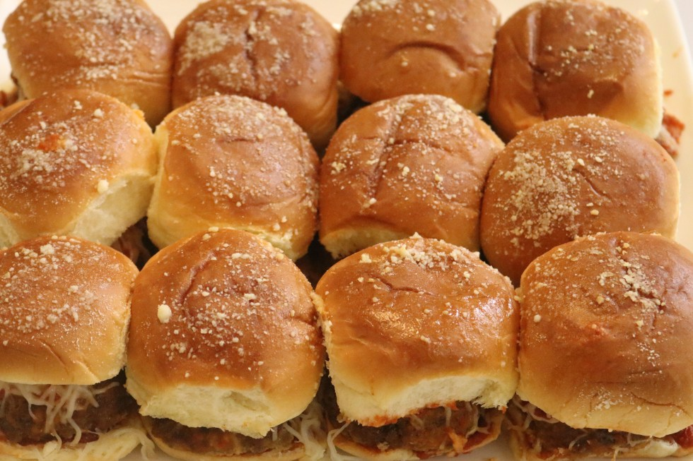 12 meatball sliders all together