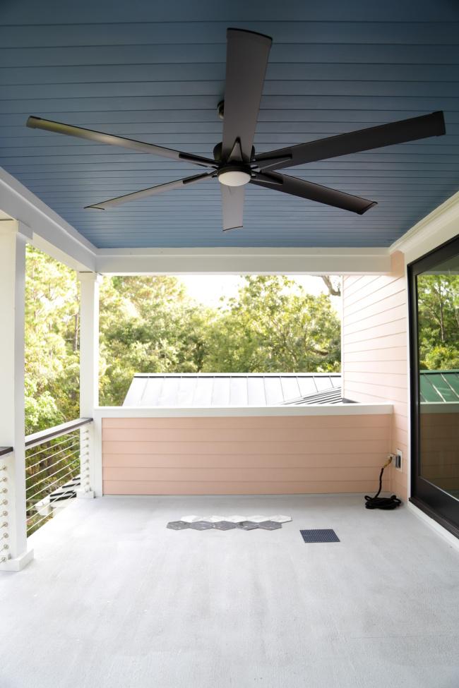 Dark Blue Porch Ceiling