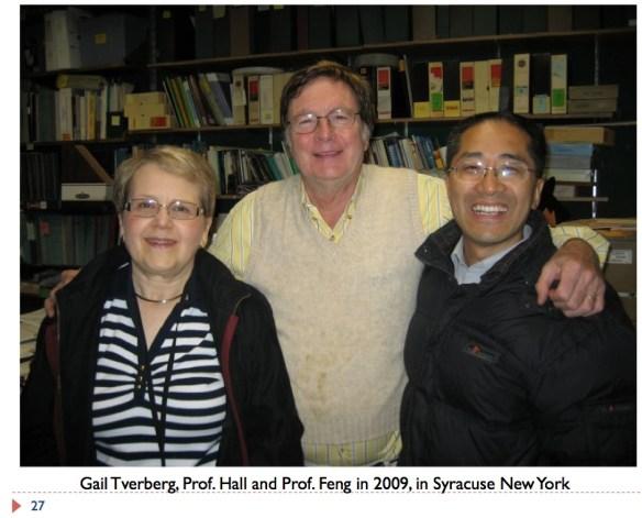 27 Photo of Gail Tverberg, Charles Hall, Prof. Feng