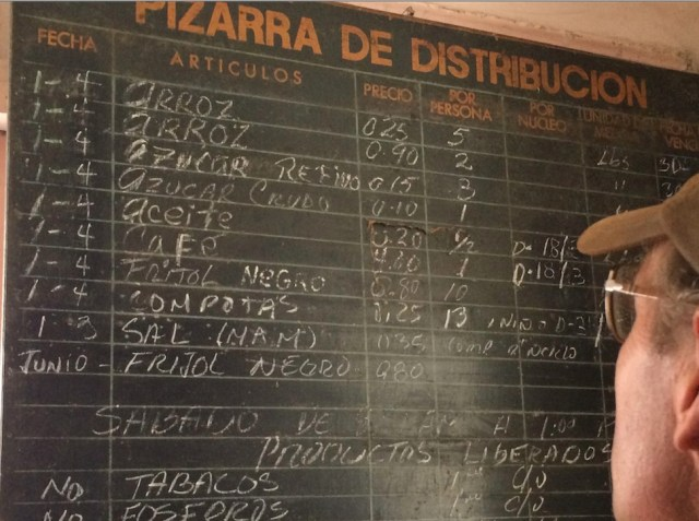 Figure 5. Ration price list on wall of store we visited.