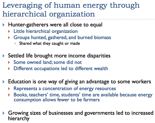 16. Leveraging of human energy through hierarchical organization.