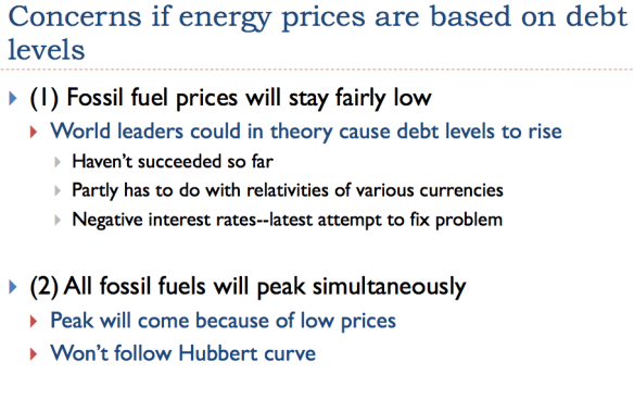 Slide 28. Concerns if energy prices are based on debt levels