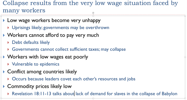 11. Collapse results from very low wages of workers