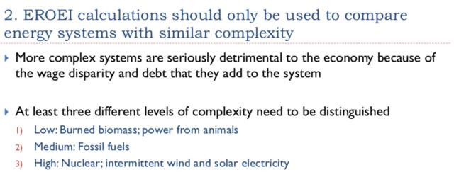 30. EROEI calculations should compare like
