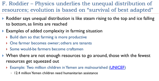 8. Physics underlies unequal distribution of resource