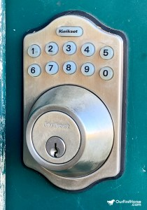 Tack room keypad deadbolt