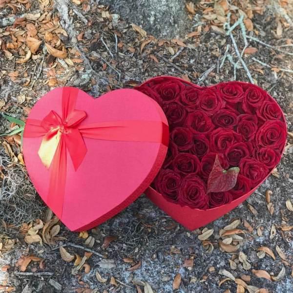 PIC#7. Romantic Red Heart Box