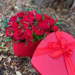 Romantic Red Heart Hatbox