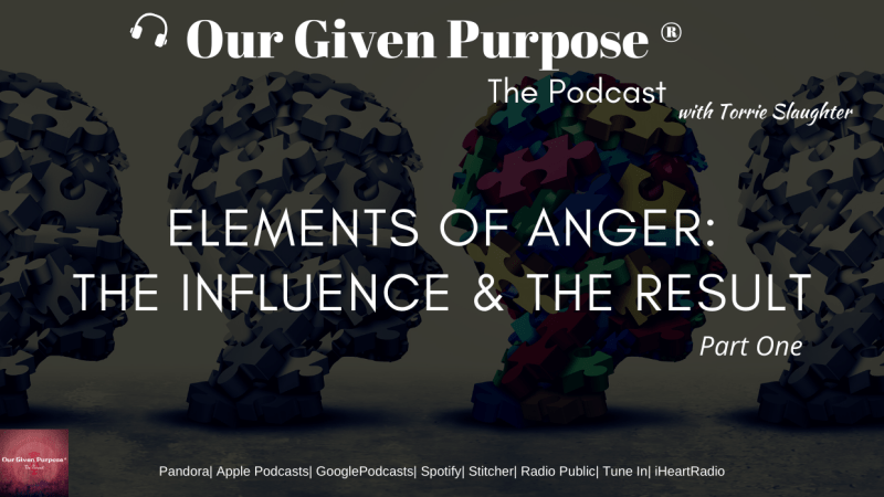 Elements of Anger: The Influence and Result, the Podcast, Part 1