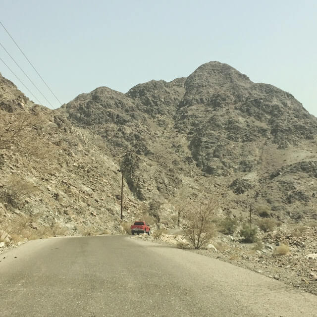 Many windy & mountainous roads in Fujairah (Photo Credit My Yellow Bells)