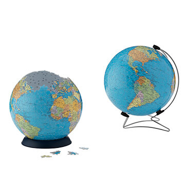Globe puzzle | Travel gift ideas for boys from Uncommon Goods