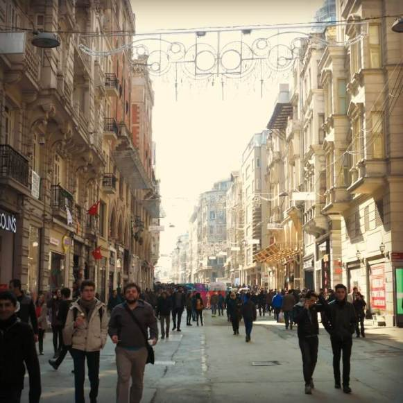 Istiklal Caddes the main pedestrianised shopping street of Benoglu District, Istanbul | Our Globetrotters