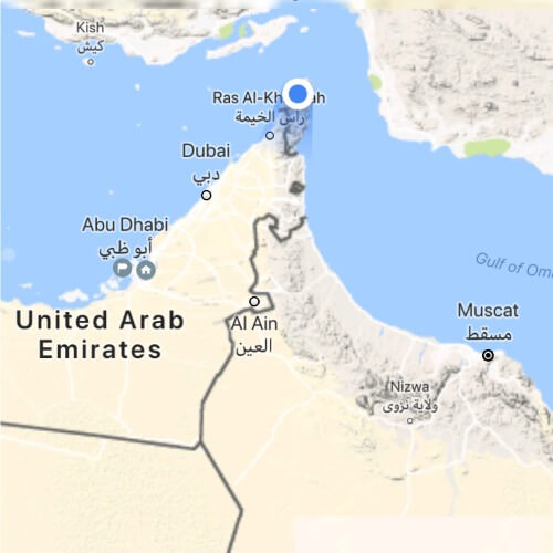 The peninsular of Musandam is separated from mainland Oman by the UAE | Musandam Tours from Dubai