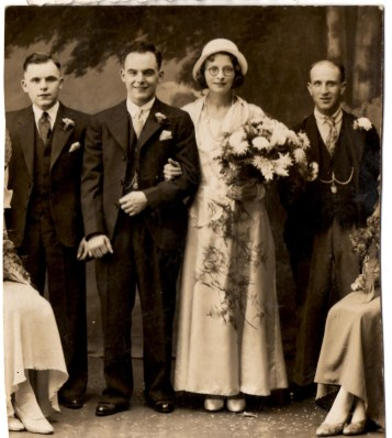 Unknown wedding with Frederick Walter Beacock on the right.