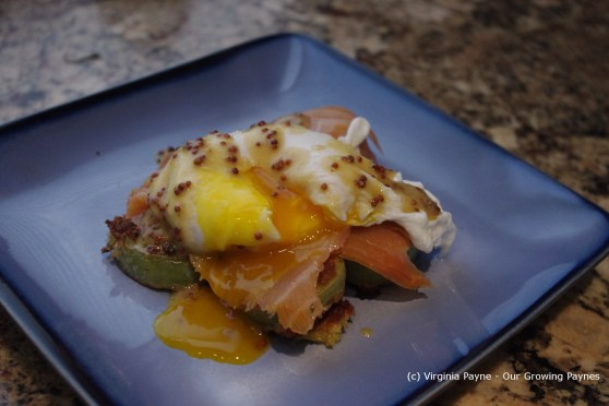 Poached egg and salmon 8 2013