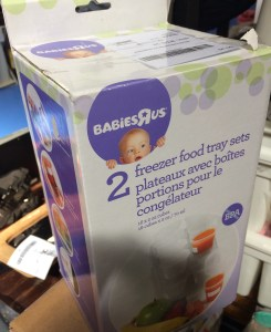 Find supplies to make baby food.
