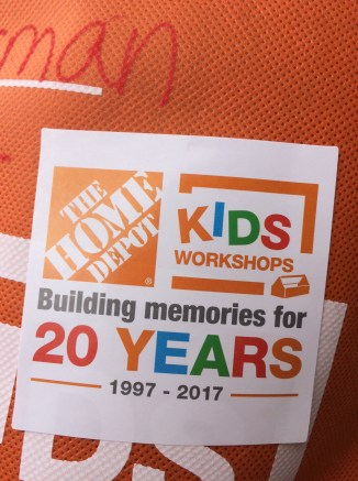 Home Depot has been offering Kids Workshops for 20 years, and they are awesome.