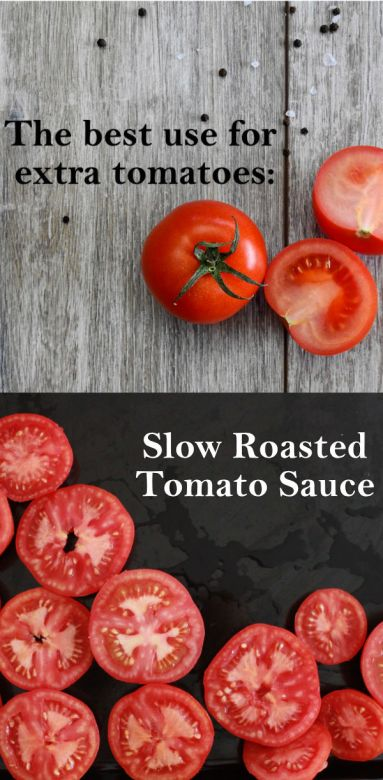 Slow Roasted Tomato Sauce | ourguidetotheeveryday.com