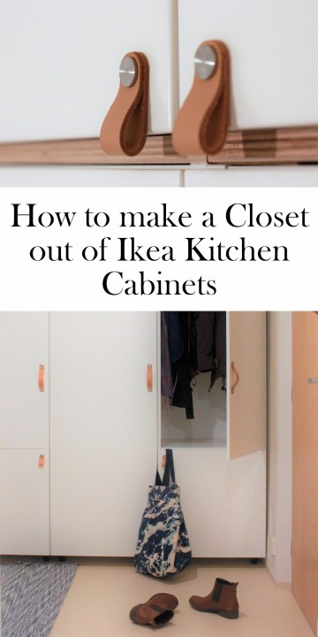 Using Ikea Kitchen Cabinets As A Closet Our Guide To The