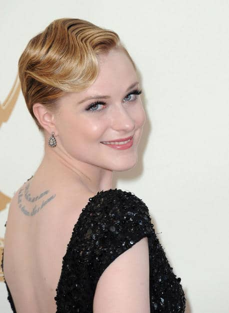Evan Rachel Wood glossy hairdo Emmy 2011