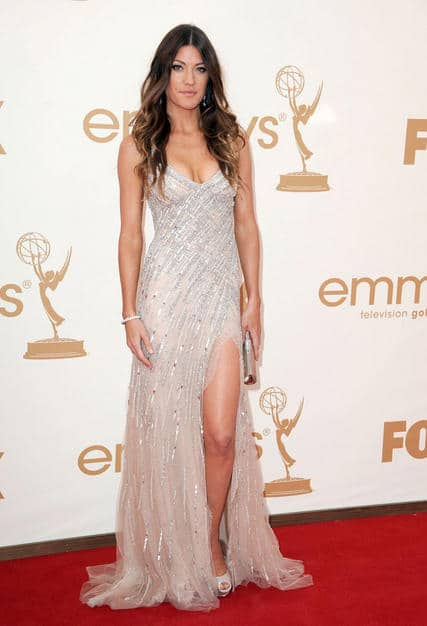 Jennifer Carpenter wavy hairdo Emmy 2011