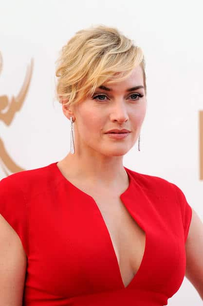 Kate Winslet voluminous updo Emmy 2011