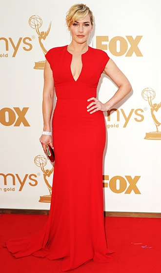 Kate Winslet gorgeous wavy updo Emmy 2011