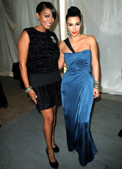 BFF Kim Kardashian and LaLa Vasquez spotted classy updos
