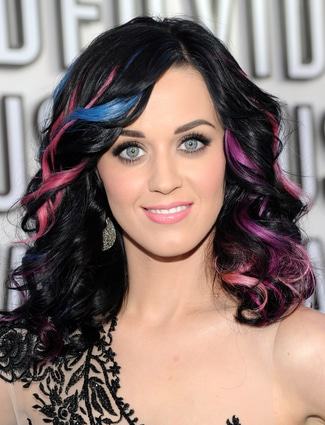 Katy Perry multi-colored bangs