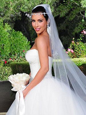 Kim Kardashian wedding hairstyle