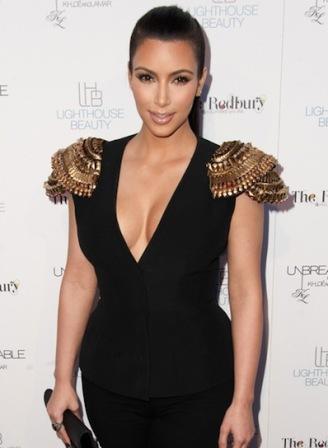 Kim Kardashian ponytail hairstyle