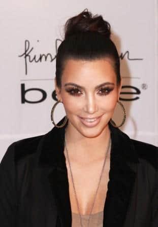 kim kardashian classic hair bun