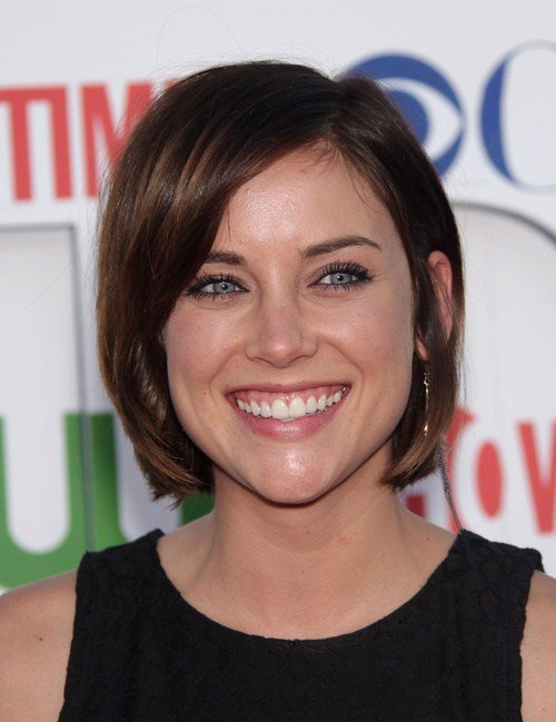 Jessica Stroup bob haircut for straight hair