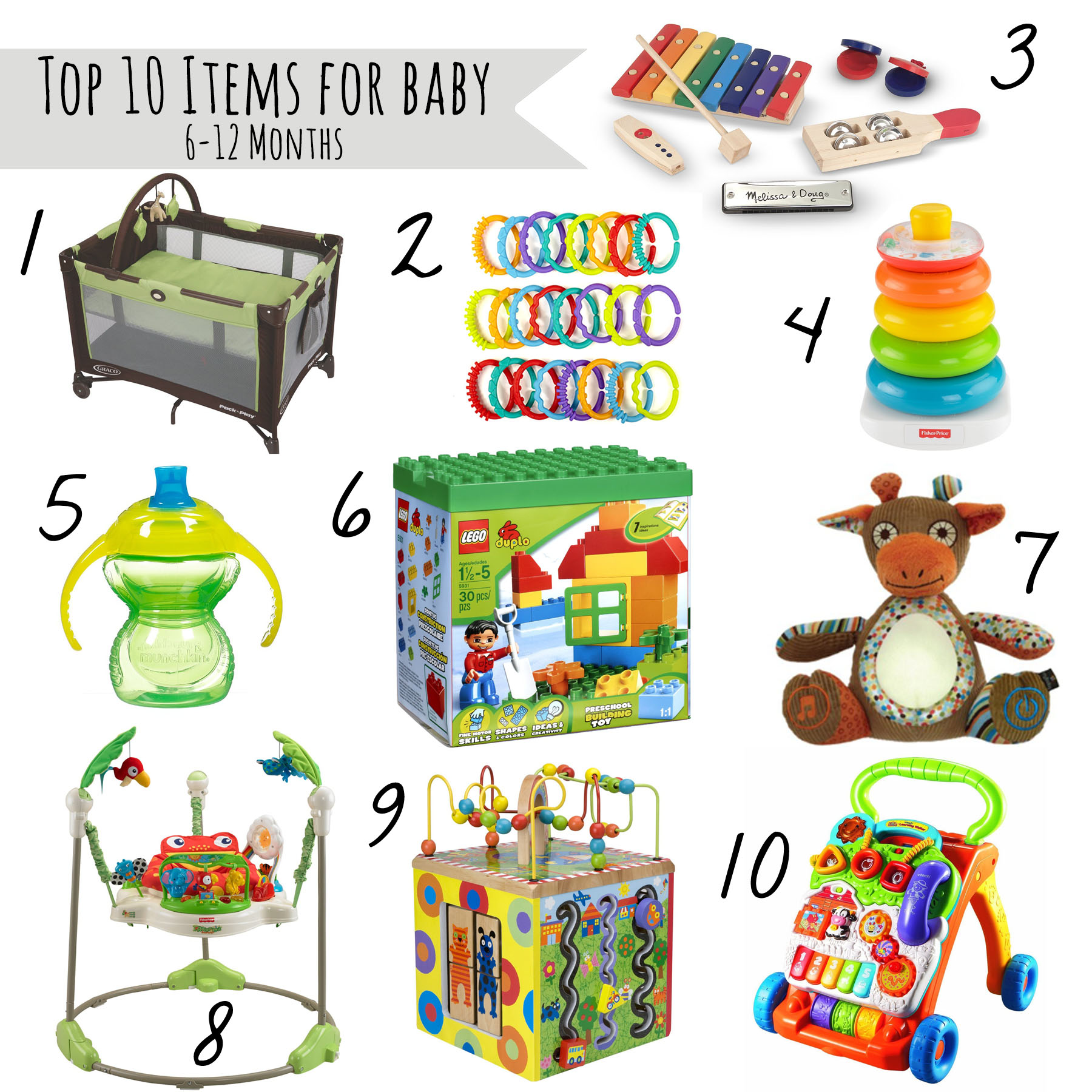 Top 10 Must Haves For Babies 6 12 Month Old