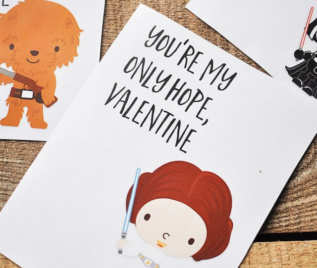 Free Printable Star Wars Valentines Day Card Wit Wander