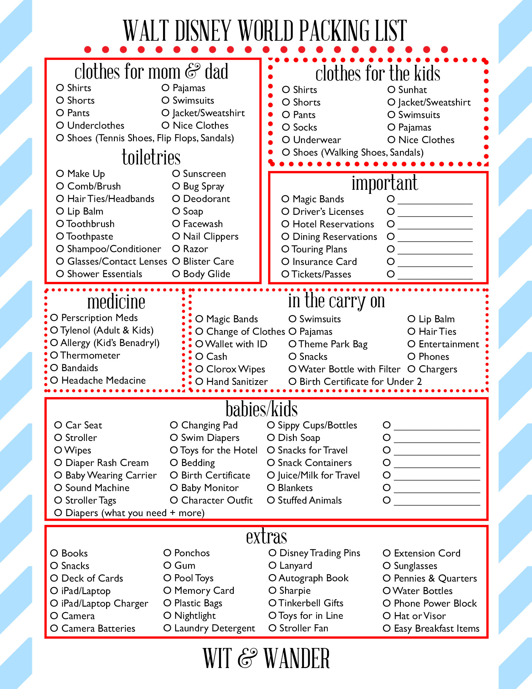 Walt Disney World Printable Library