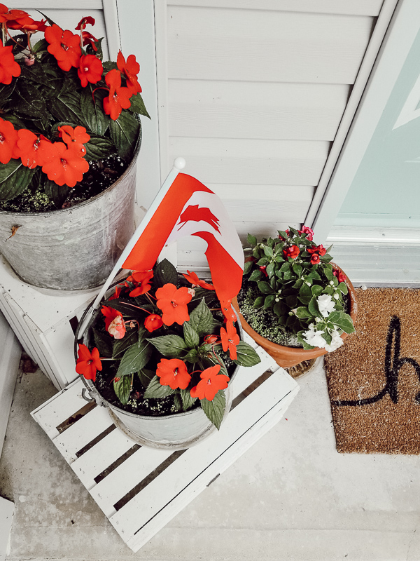 Canada Day Decor Ideas - Our Happily Ever Home on Backyard Decor Canada id=22006