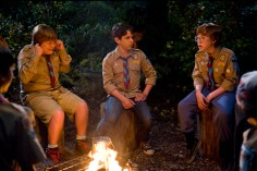 DF-12830 - Rowley (Robert Capron, left) and Greg (Zachary Gordon) try to make sense of Fregley's (Grayson Russell) twisted campfire ghost story.