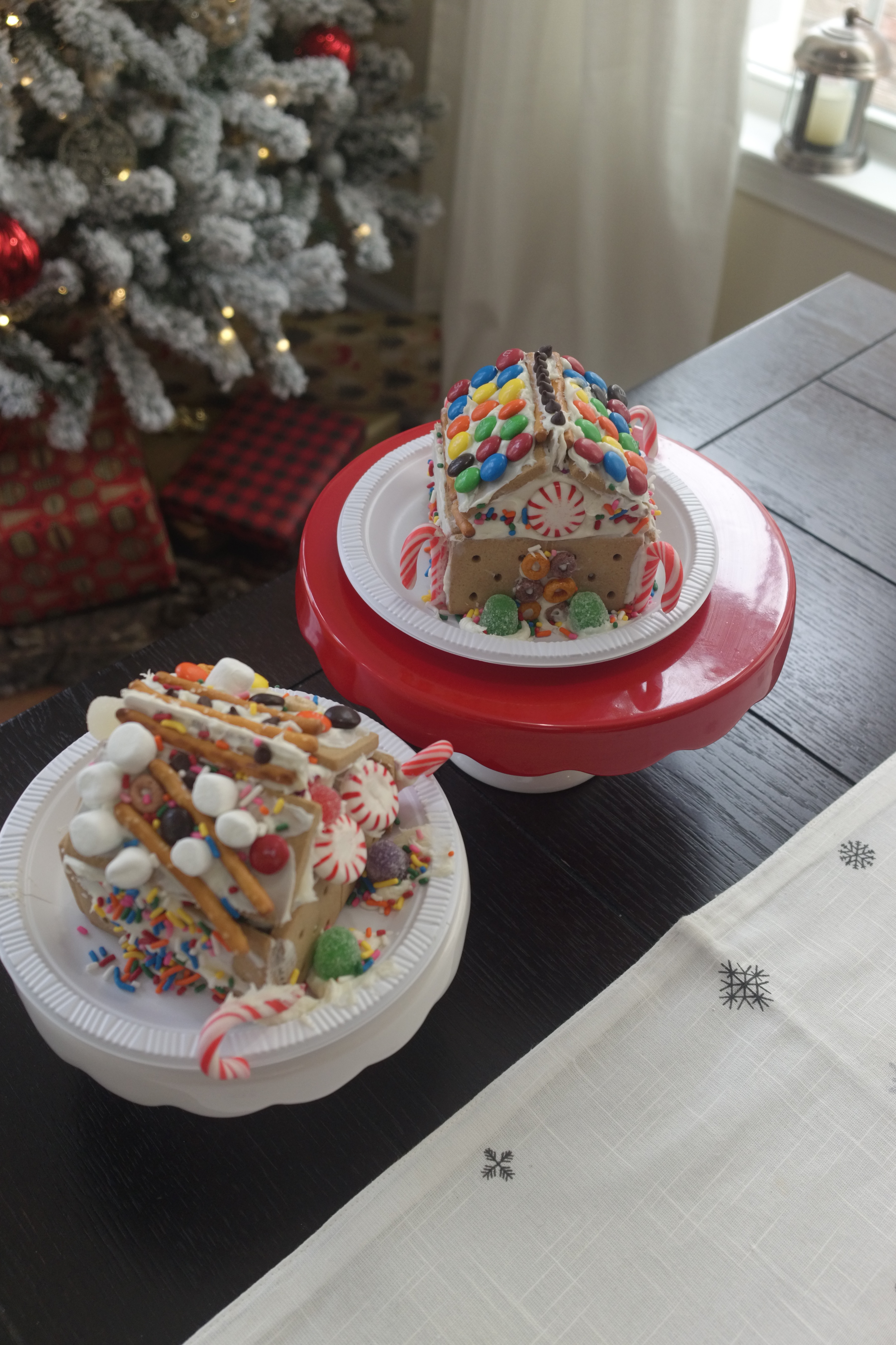 Milk Carton Gingerbread Houses