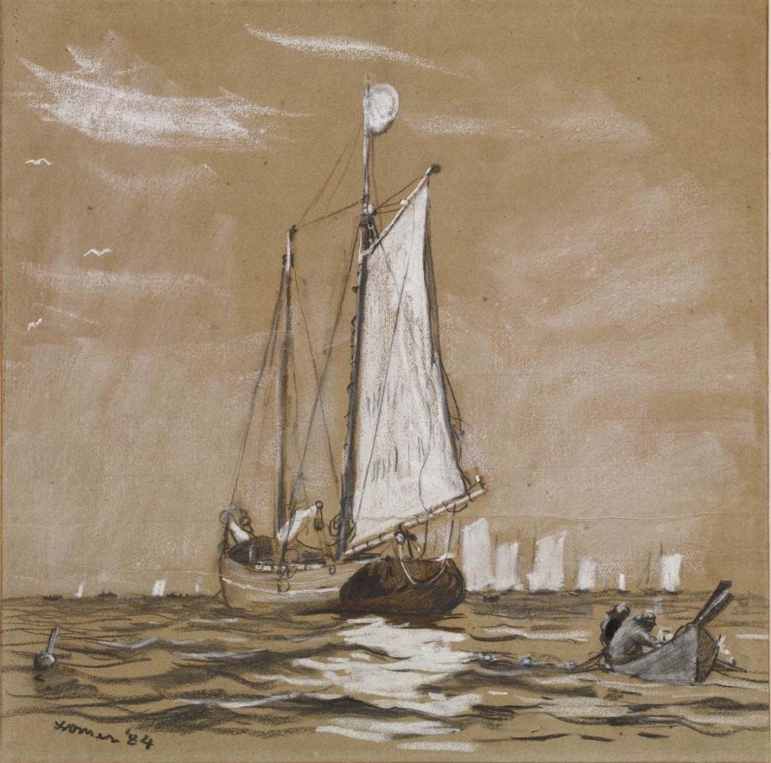 Winslow Homer - A Fishing Schooner