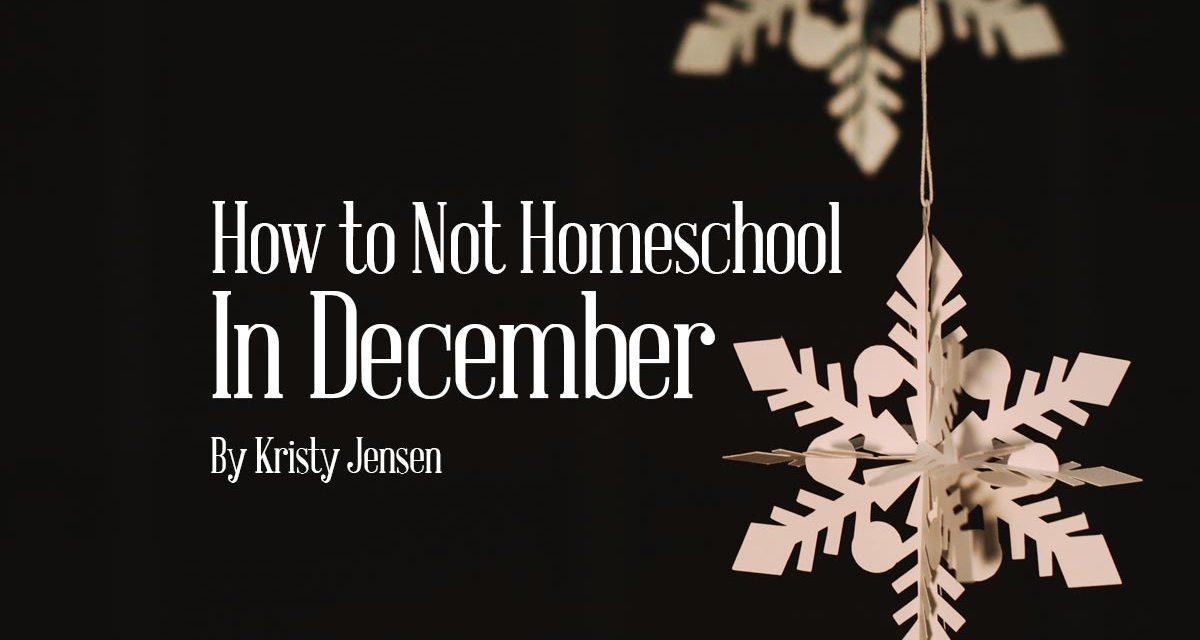 How to Not Homeschool in December