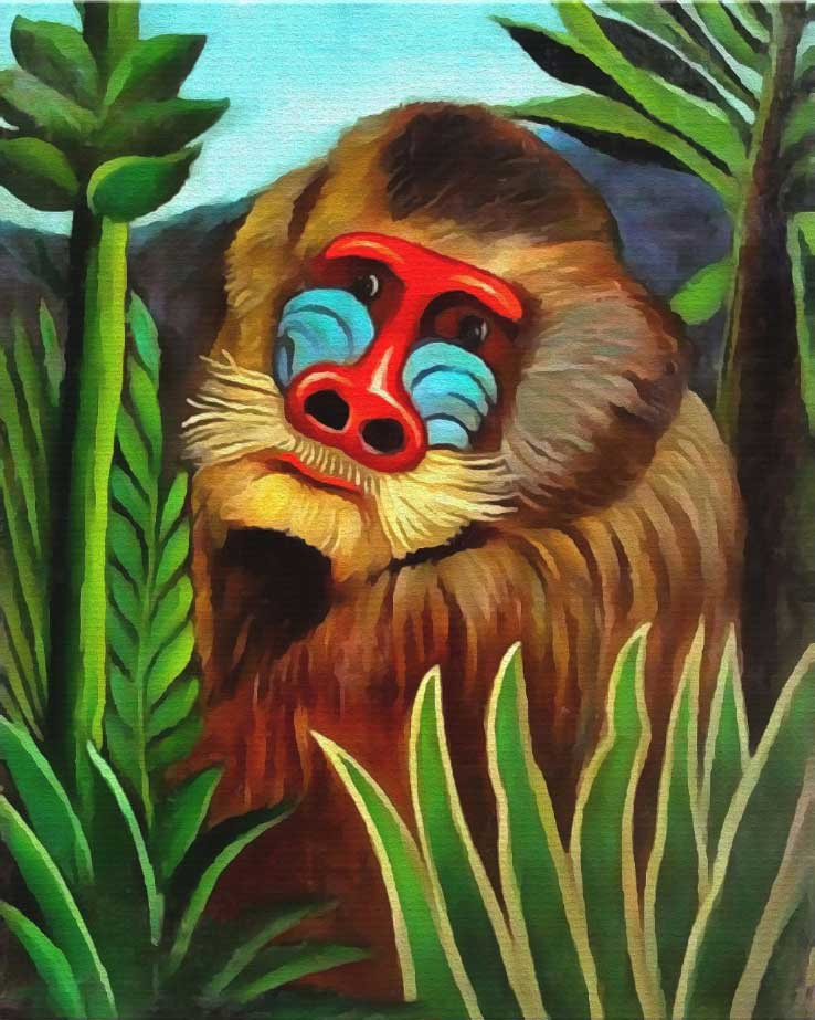 Rousseau - Mandrill in the Jungle