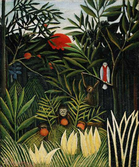 Rousseau - Landscape with Monkeys