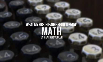 What should my first grader know – math