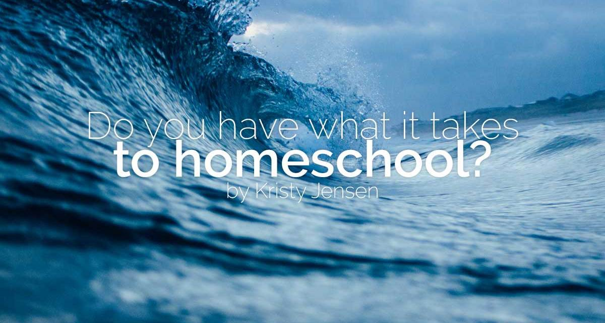 Do you have what it takes to homeschool?