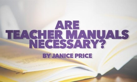 Are Teacher Manuals Necessary?